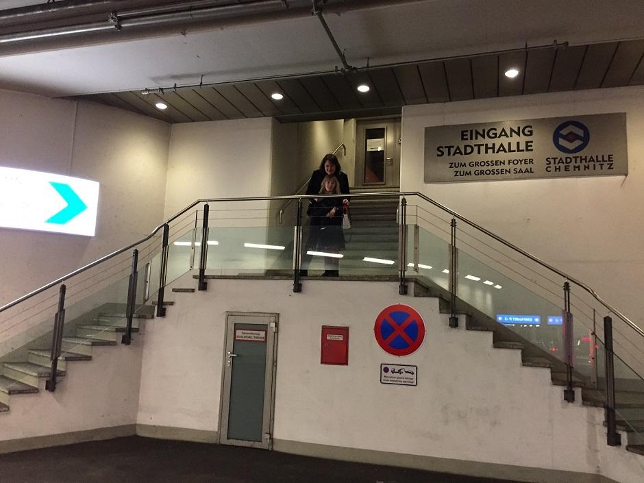 Beton auf dem Weg in die Stadthalle Chemnitz 31.12.2017.