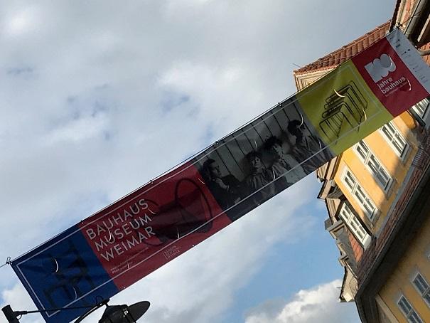 Bannerreklame Bauhaus Weimar.