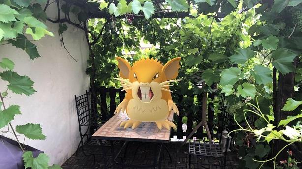 Pokémon Radikarl beim Versuch sich zu befreien.