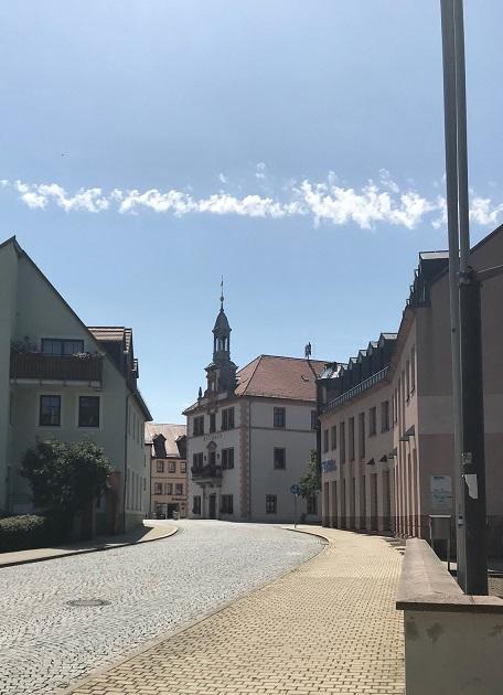 Geithain in Sachsen. Kulturspalte.