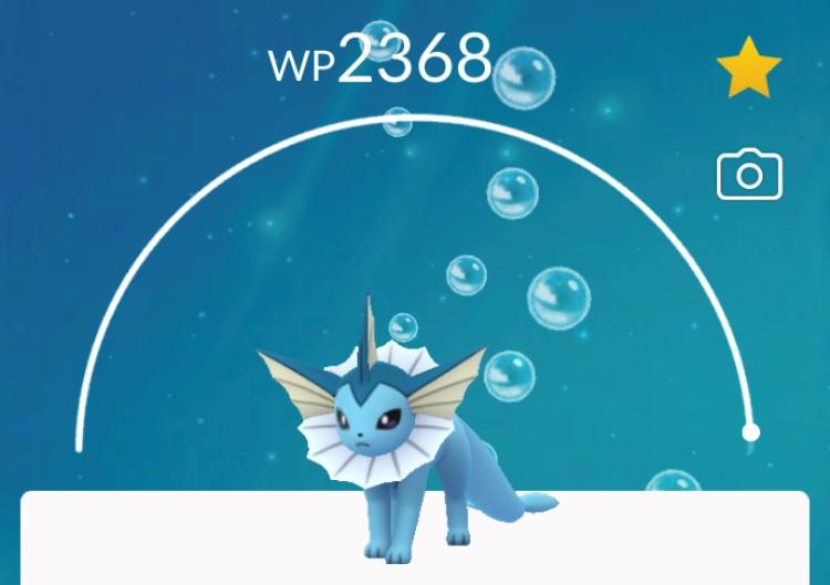 Pokémon friedlich in seinem Pokéball.